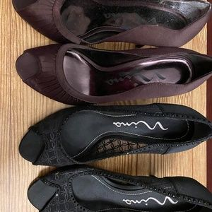 Nina Dress Heels 2 Pair Size 8 Medium